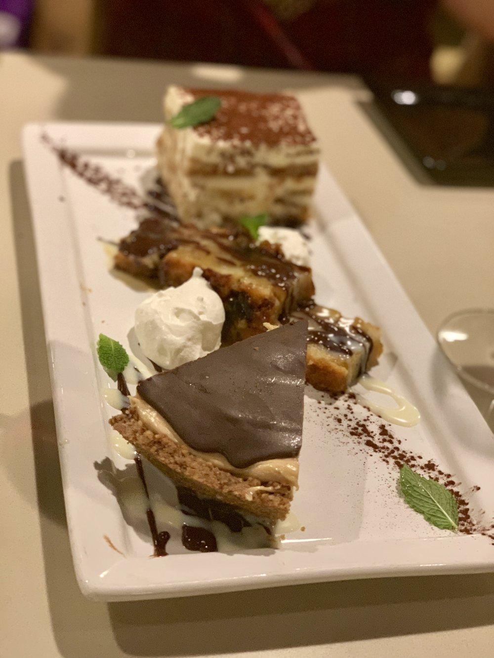 Peanut Butter Chocolate Pie / Tiramisu