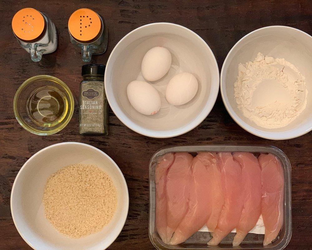 Air fryer chicken strips ingredients
