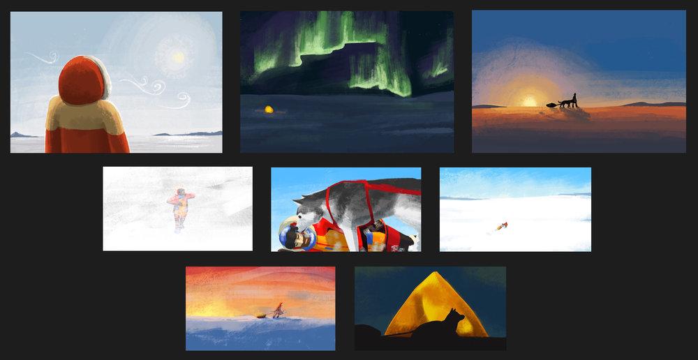 """Arctic"" Environment Design/Colour Script"