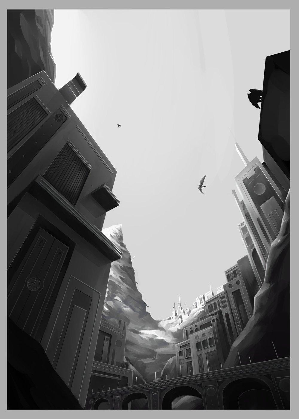 Fantasy Cityscape I