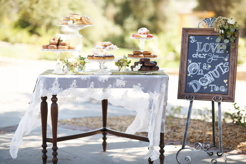 Donut Bar at Wedding