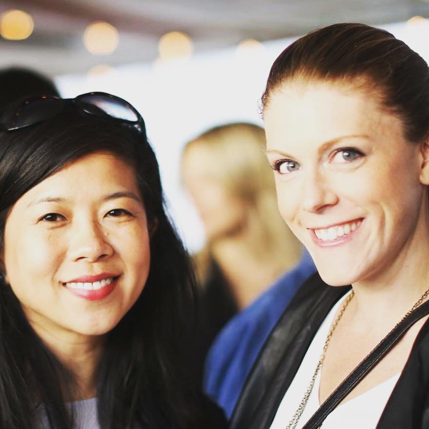 Edna Wang (left), Kate O'Rourke