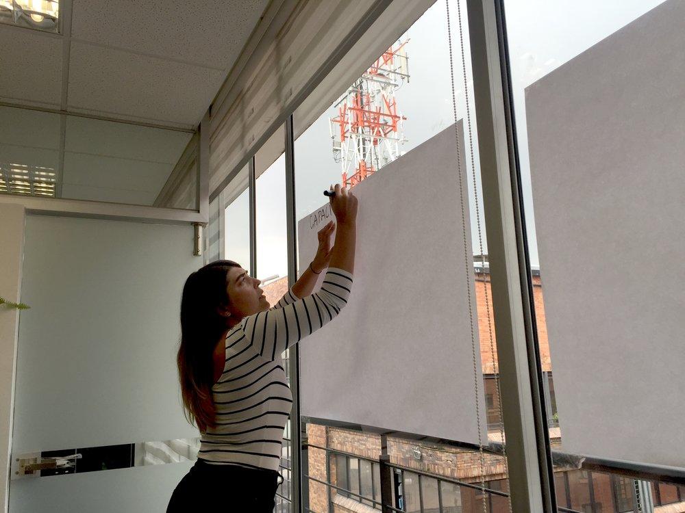 Carey Dunfey: Work session in Bogotá.