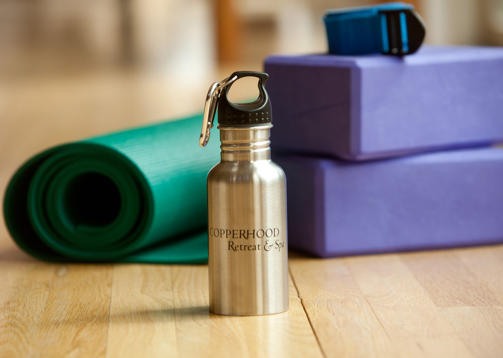 spa yoga blocks water bottle.jpg