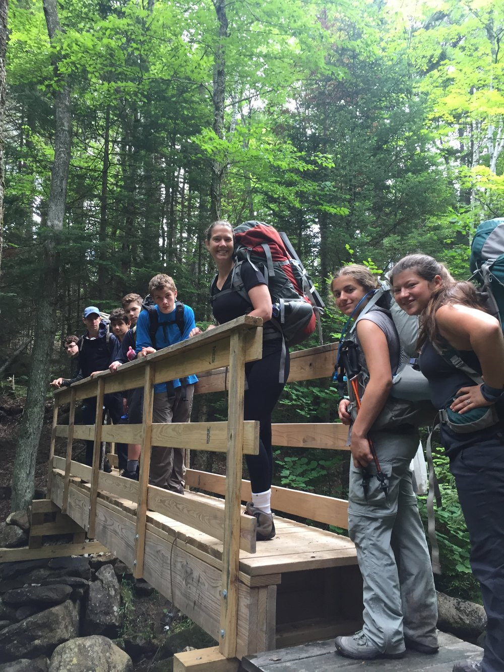 Intro to backpacking Monadnock-Sunapee Greenway in N.H. 2017