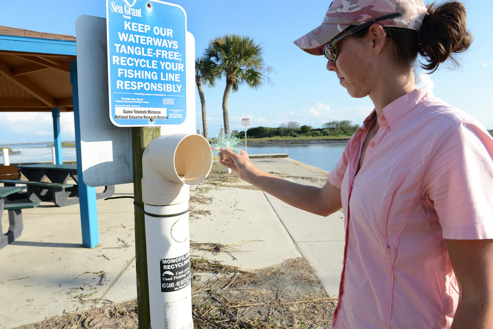 Sea Grant's monofilament fishing line recycling project
