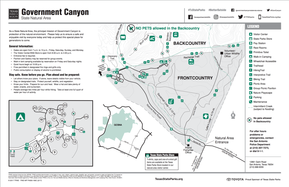 Facility map friends of government canyon open pdf gumiabroncs Gallery