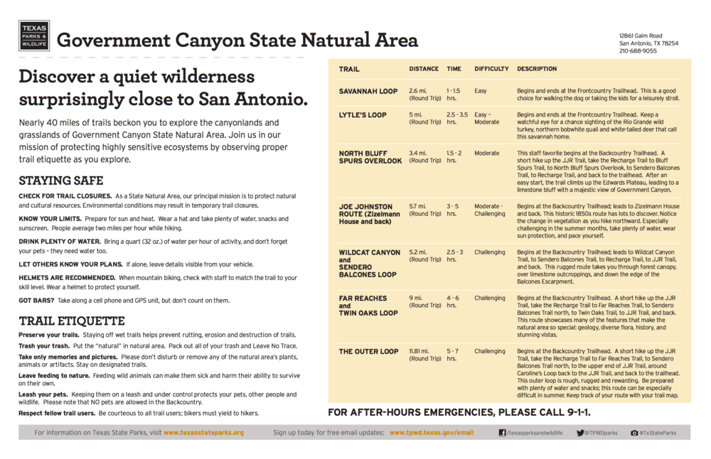 Maps | Friends Of Government Canyon