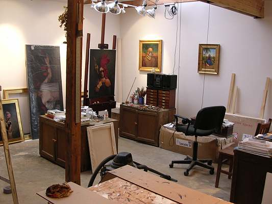 My studio, Little Washington, VA, 2005, 22 x 24 feet.