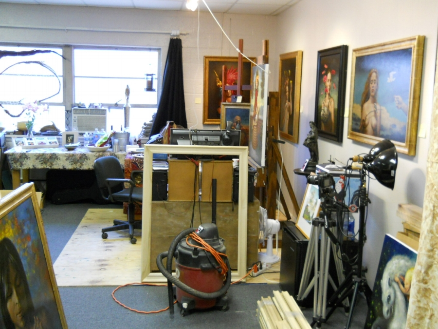 My studio, Warwick, NY, 2011, approx 20 x 30 feet.