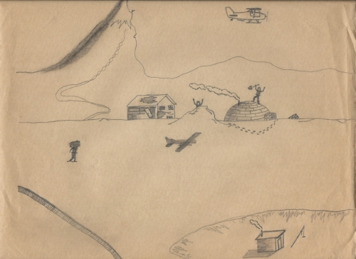 North Pole, pencil on paper, circa 1970