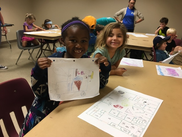 Campers were so proud to share their ideas for the next new exhibit at Great Ex!