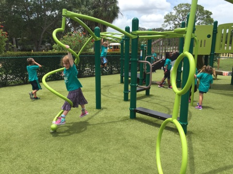 A field trip to a city park allowed campers to explore this unique playground....