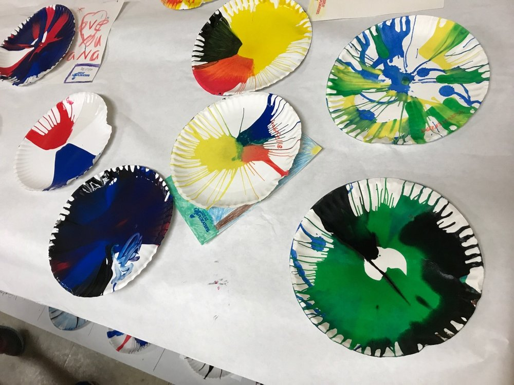Inertia art! Campers investigated art in motion with this simple but high-impact activity.
