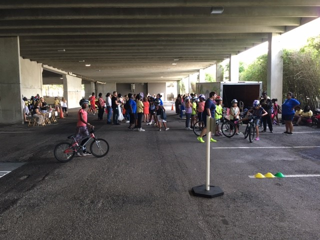 The Bicycle Rodeo course included challenges such as scanning, rock dodge , a signal-stop-search station, a cross-walk station, slow race and finish line.  Participants were awarded a completion certificate for their efforts.  We had a nice turnout.