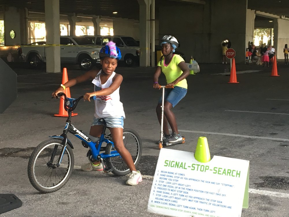Both scooters and Bicycles were offered on the Rodeo Safety Course.