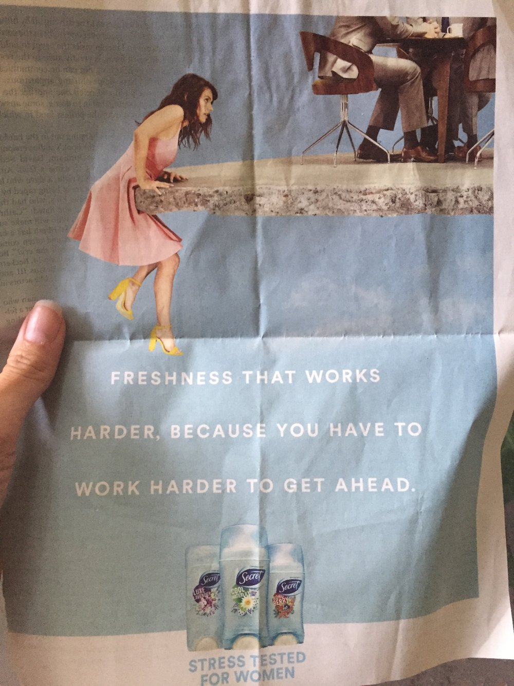 Just a normal advertisement. It's no secret.