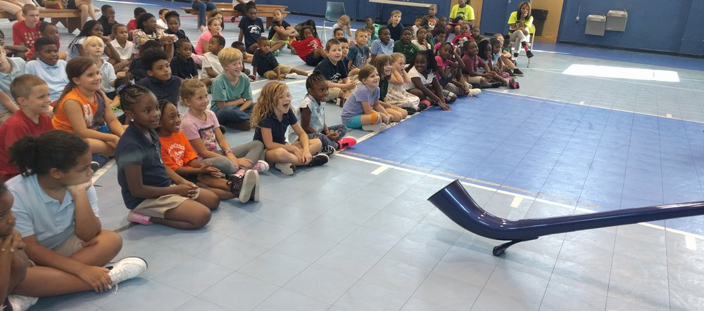 "Children enjoy ""The Science of Sound at the Police Athletic League in St Petersburg"