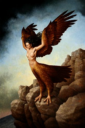 The Harpy, 2009, oil on linen, 30 x 20 inches