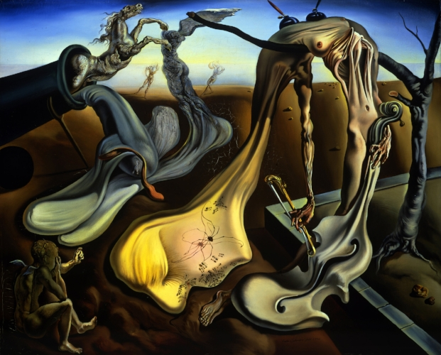 Salvador Dali,  Daddy Longlegs of the Evening-Hope , 1940, oil on canvas, 16 x 20 inches