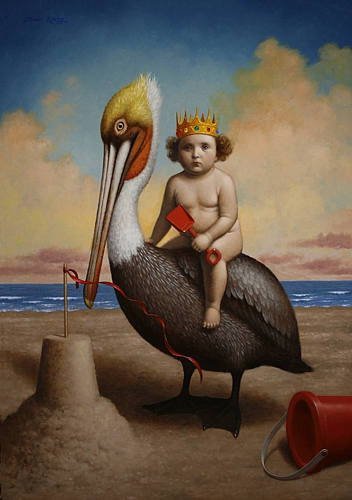 The Pelican King , 2016, oil on canvas, 34 x 24 inches (private collection)