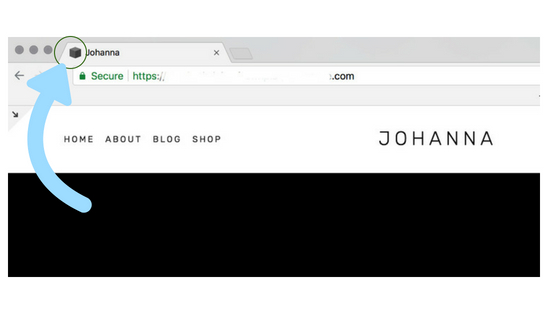 squarespace favicon example