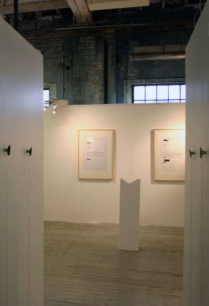 Installation view of The Lost Ring Project