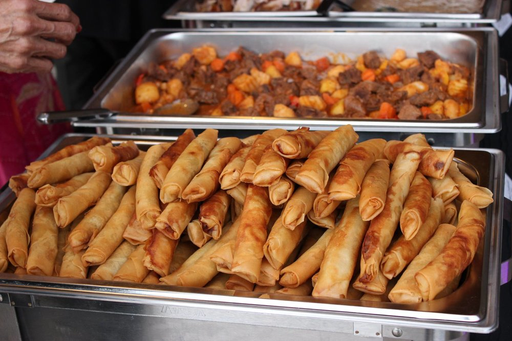 Hundreds of Lumpia; all gone within an hour!
