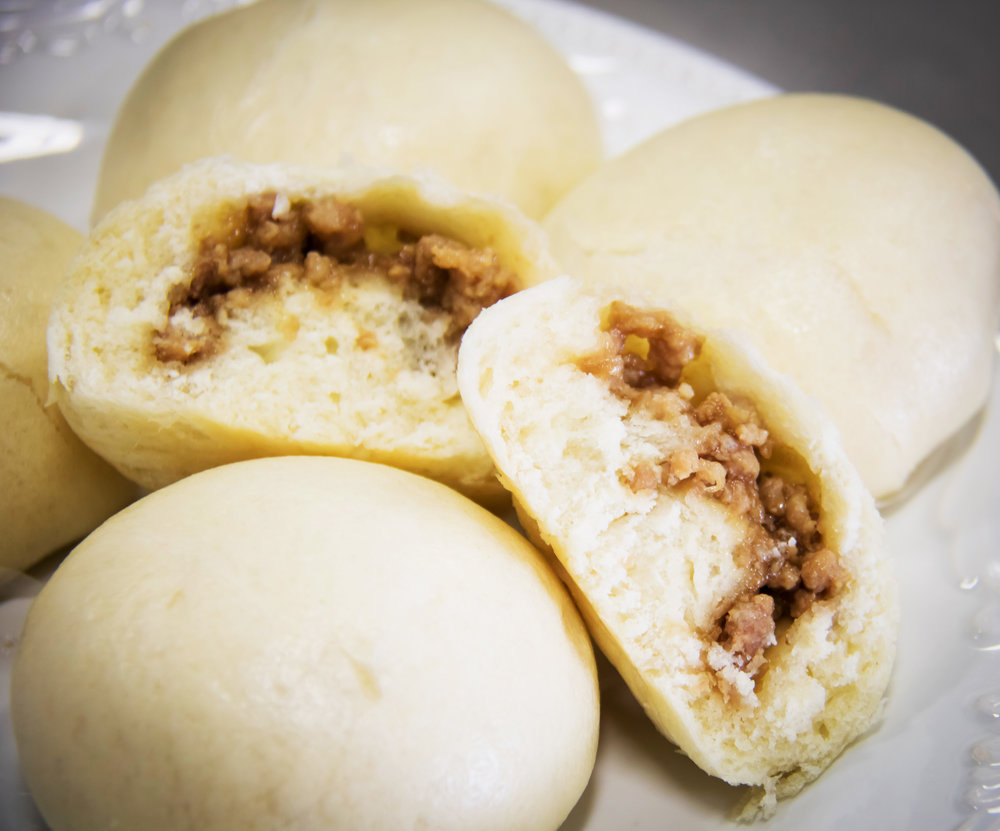 the perfect on-the-go microwavable snack, siopao are super soft   steamed buns surrounding a hoisin sauce and meat filling. Quick to prepare, and even faster to eat , siopao are guaranteed hit!