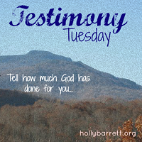 Today I'm linking up with Testimony Tuesday at hollybarrett.org. Join in the fun!