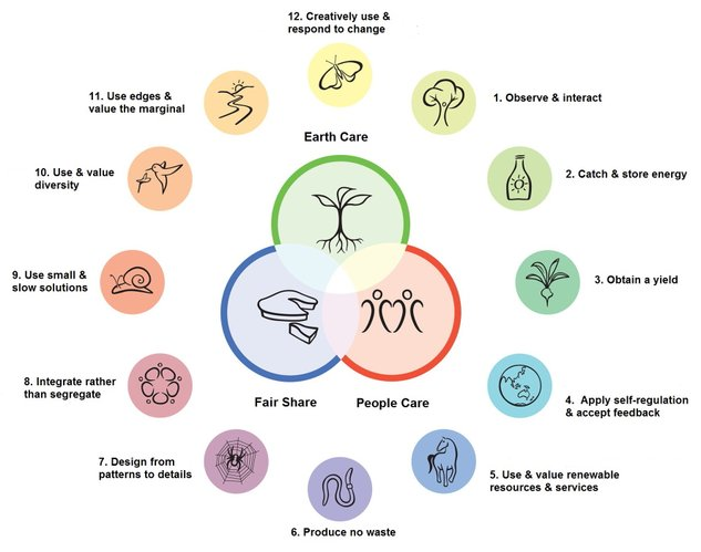The Permaculture Principles, as proposed by David Holmgren and Bill Mollison
