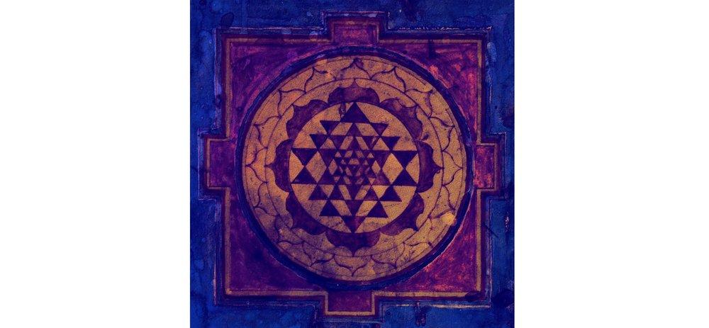 Sacred Geometrical Pattern    Sri Yantra   , symbolising union & balance