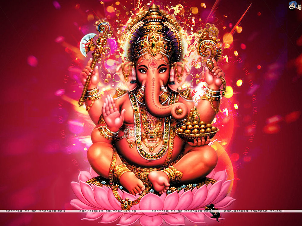 Om Gum Ganapatayei Namah - 'I pray to Lord Ganesha for blessings and protection'To Ganesha, elephant-headed son of Shiva and Parvati, remover of obstacles and helper with challenges along the journey.