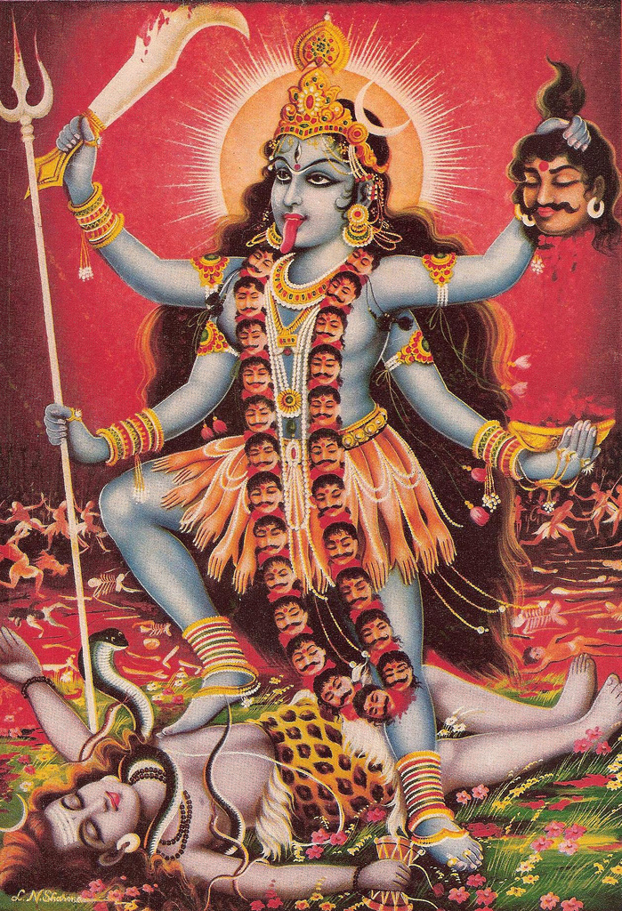 Om Maha Kali - 'Honour to Kali, Preserver of Earth'Saluting Goddess Kali, known as the Dark Mother/Destructive Force, to rid of negative energies, release of the old which no longer serves, encouraging transformation.