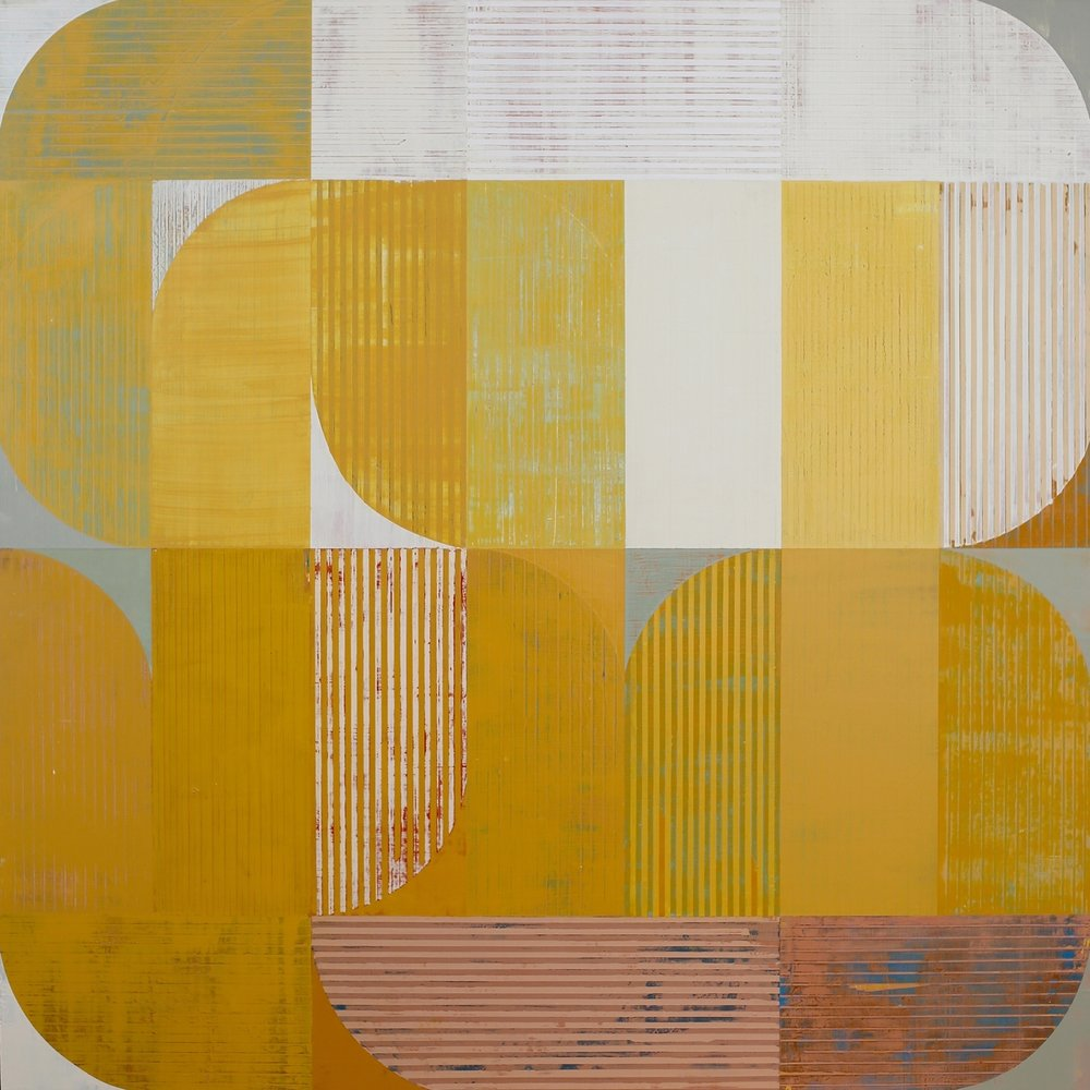 Venus in Yellow , acrylic on panel, 48x48""