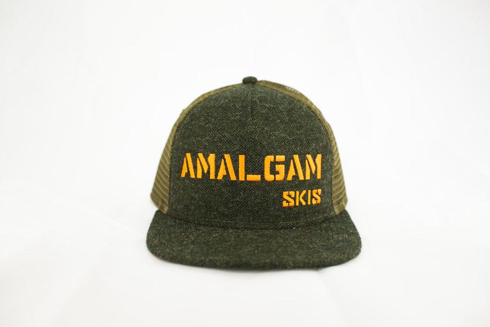 ddba23f6637 amalgam-2-7.jpg. Herringbone Wool Trucker Hat