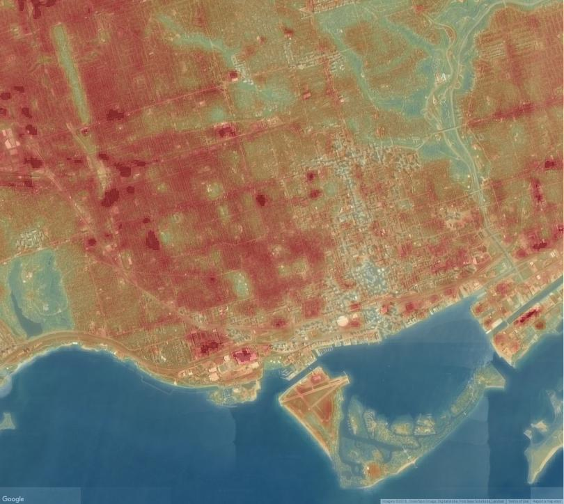 Urban Heat Islands + Normalized Difference Vegetation Index [October 2016]