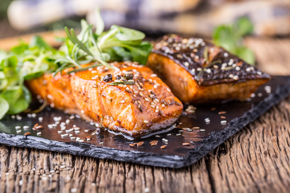 Baked Salmon & Steamed Broccolini