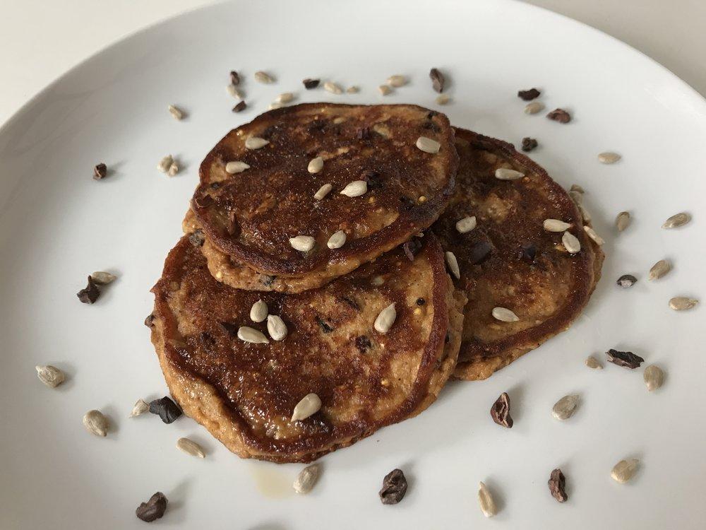 Oatmeal Flour Pancakes