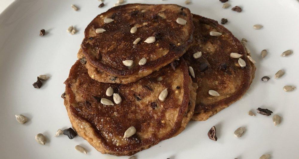 Oatmeal Flour Pancakes -