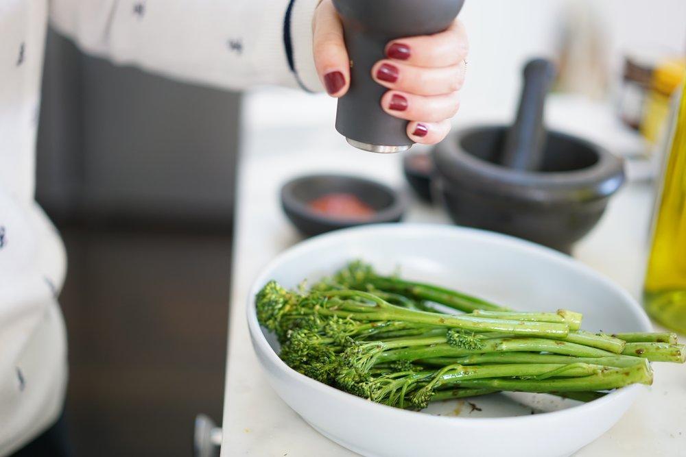 Steamed Broccolini -