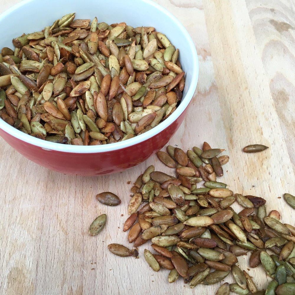 Spiced Pumpkin Seeds -
