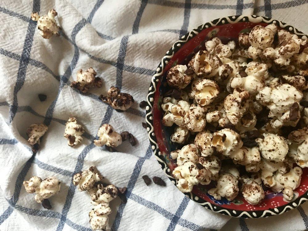 Chocolatey Salty Sweet Homemade Popcorn -