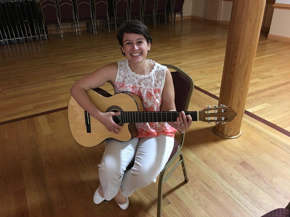 Julia practicing guitar!