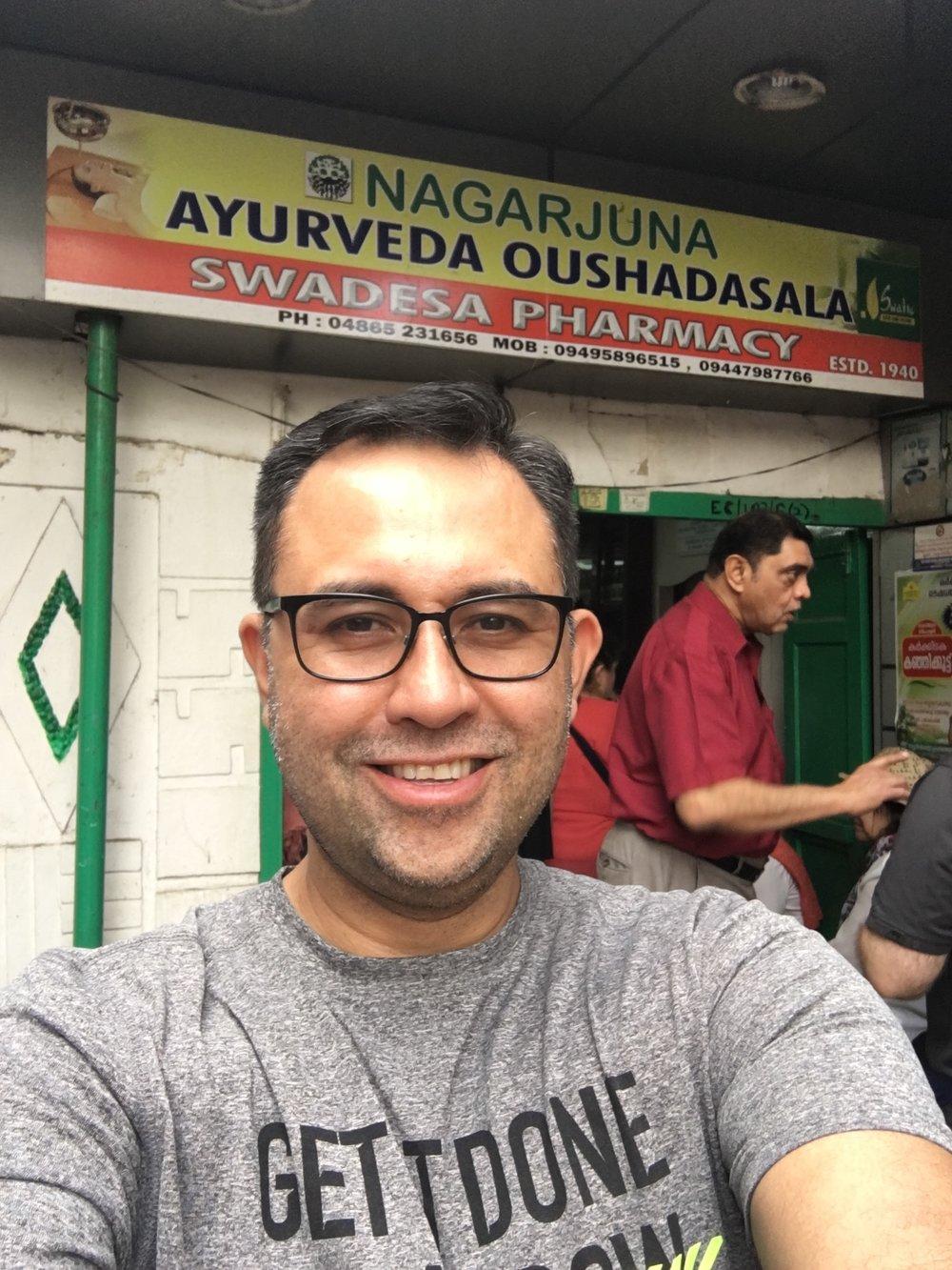 Visiting an Ayurvedic Pharmacy