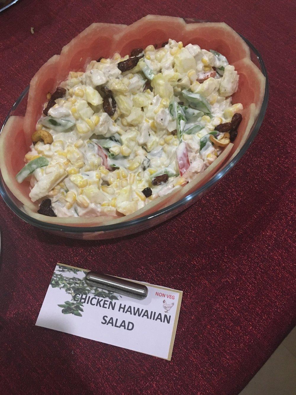 Hawaiian Chicken Salad for dinner