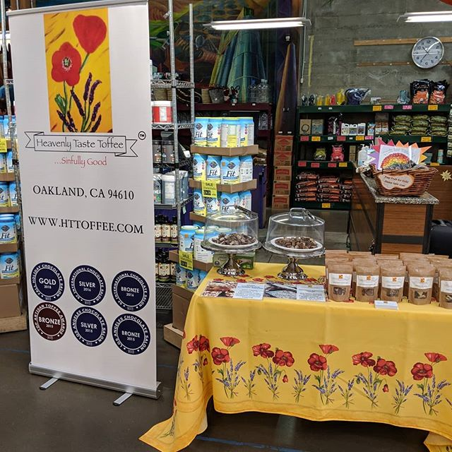 Had a great demo today at @rainbow_grocery. Make sure to stop by for a bag of some sinfully good toffee!!