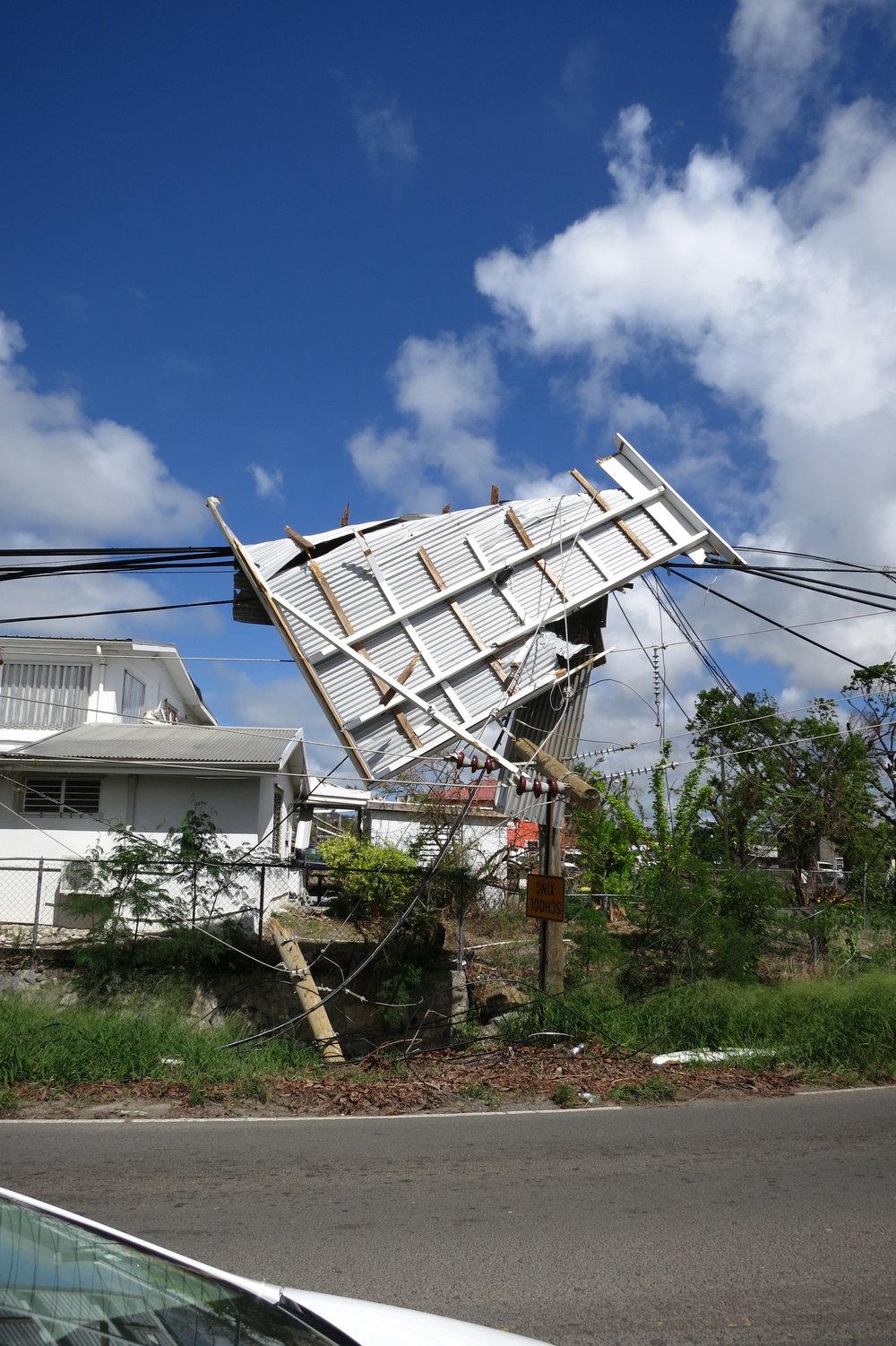 St Croix debris on pole.JPG