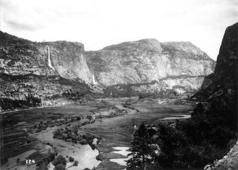 A view of the Hetch Hetchy Valley at the turn of the century