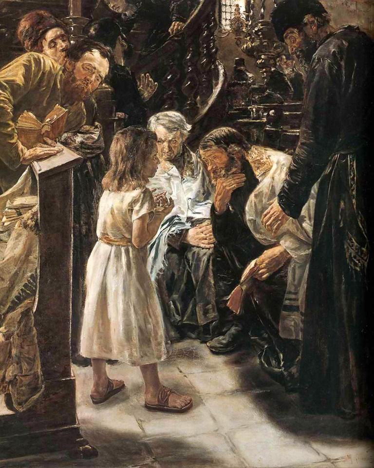 Max Lieberman (German, 1848 – 1911), Der zwölfjährige Jesus im Tempel (1879), Oil on Canvas, Collection of Hamburger Kunsthalle.